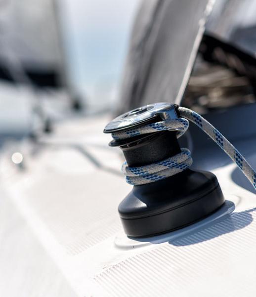 Winsch auf Segelyacht